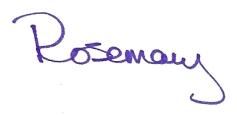 Rosemary's signature